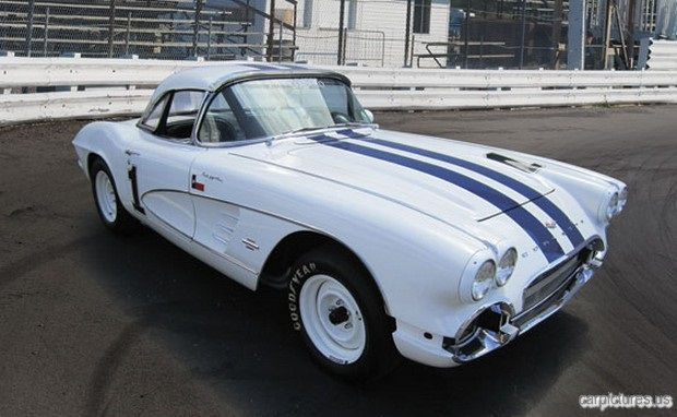 1961 Chevrolet Corvette Fuel-Injected Vintage Racing Car-Image by German Medeot