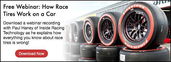 Access an exclusive webinar all about race tires with Inside Racing Technology's Paul Haney