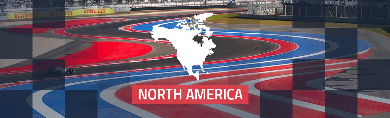 North America Race Tracks