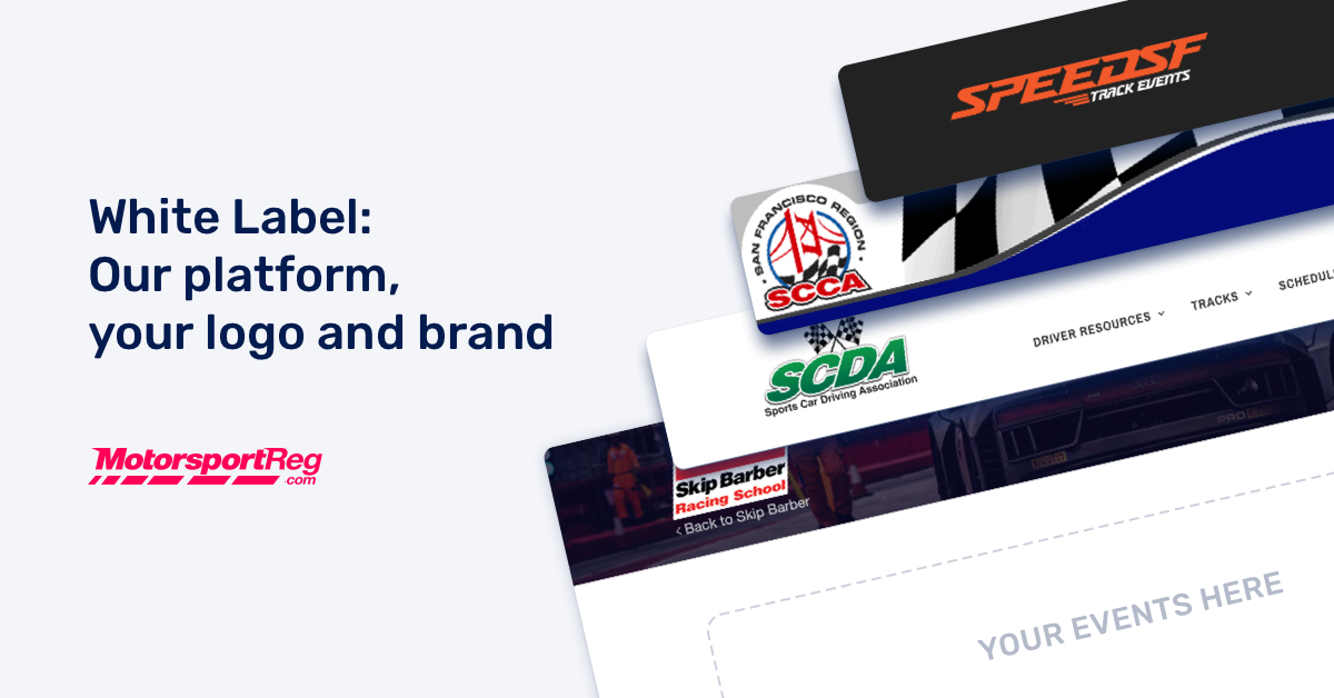 white label motorsport membership, licensing and event registration software